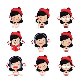 Gekleurde meisje avatars