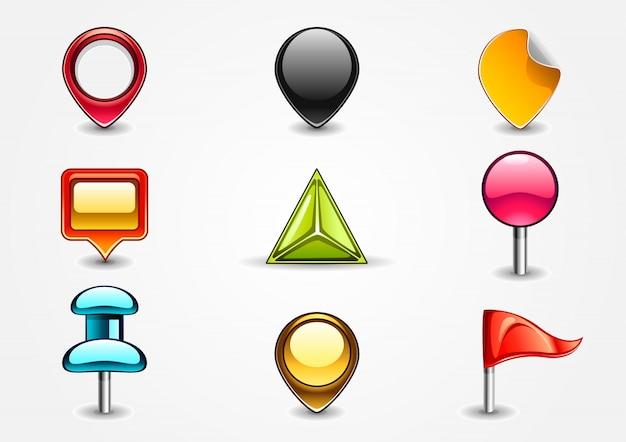 Gekleurde navigatietekens