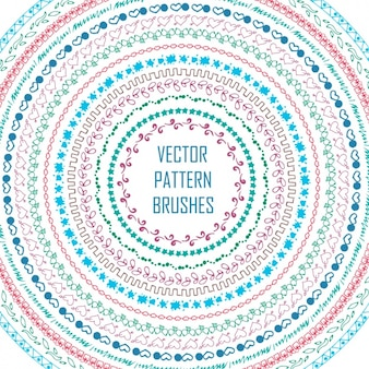 Gekleurde patroonpenselen