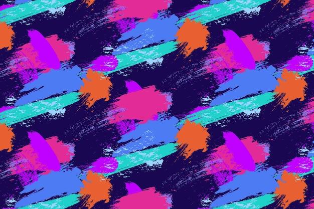 Gekleurde penseelstreken patroon sjabloon