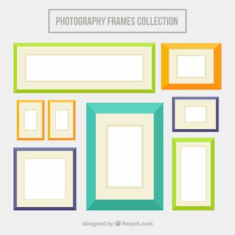 Gekleurde platte fotolijsten