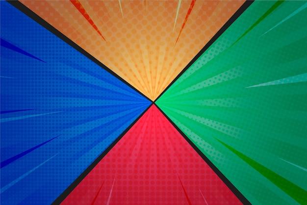 Gekleurde platte ontwerp komische stijl achtergrond