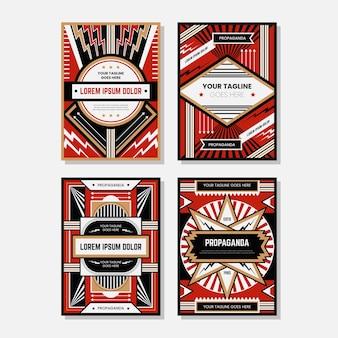 Gekleurde propaganda poster ontwerp sjabloon collecties
