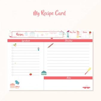 Gekleurde recept template