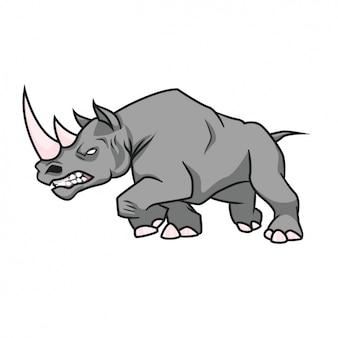 Gekleurde rhino ontwerp