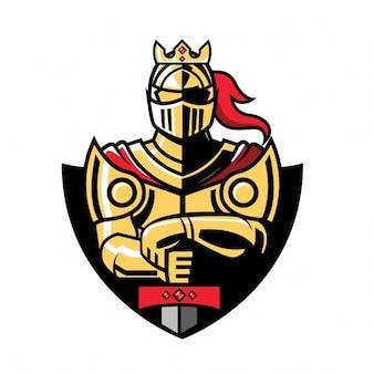 Gekleurde ridder ontwerp