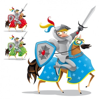 Gekleurde ridders collectie