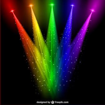 Gekleurde schijnwerpers vector