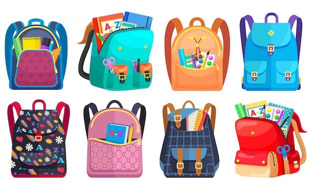 Gekleurde schoolrugzak terug naar school