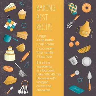 Gekleurde set elementen voor het bakken