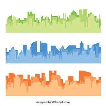 Gekleurde skylines