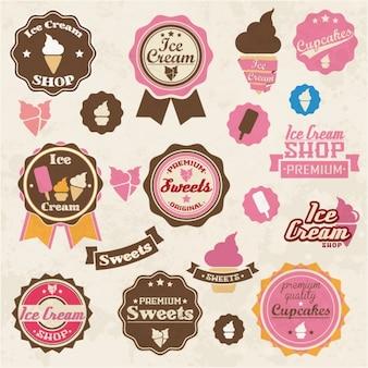 Gekleurde snoepjes etiketten collectie