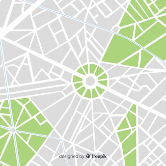 Gekleurde stadskaart met straten en park