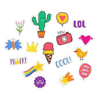 Gekleurde stickers