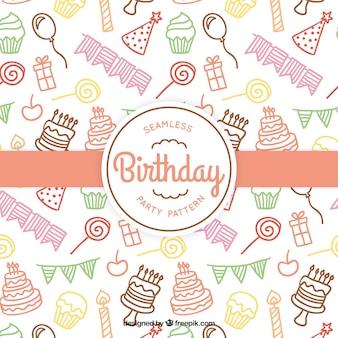 Gekleurde verjaardag patroon