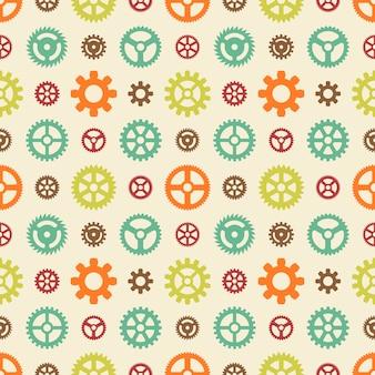 Gekleurde versnellingen naadloos patroon