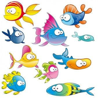 Gekleurde vissen-collectie