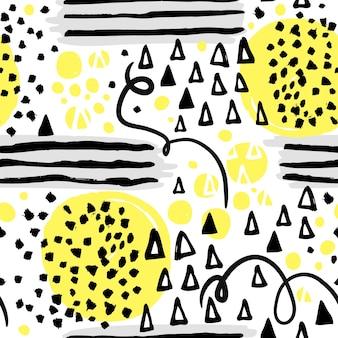 Gekleurde vormen memphis patroon