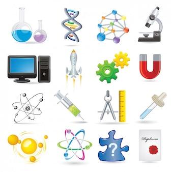 Gekleurde wetenschap elementen