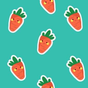 Gekleurde wortelen patroon