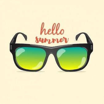 Gekleurde zomer achtergrond