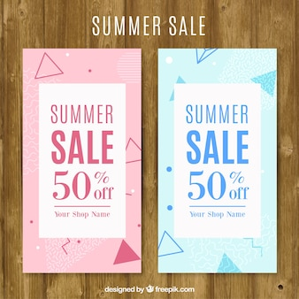 Gekleurde zomer te koop flyers