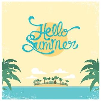 Gekleurde zomervakantie achtergrond