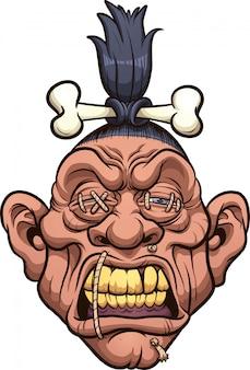 Gekrompen hoofd