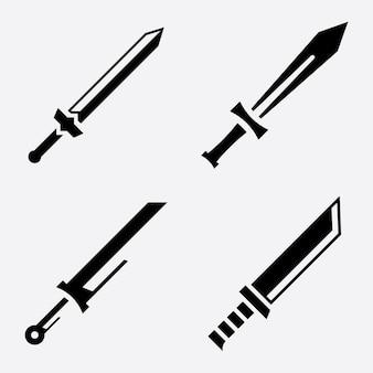 Gekruiste zwaarden vector pictogram illustratie