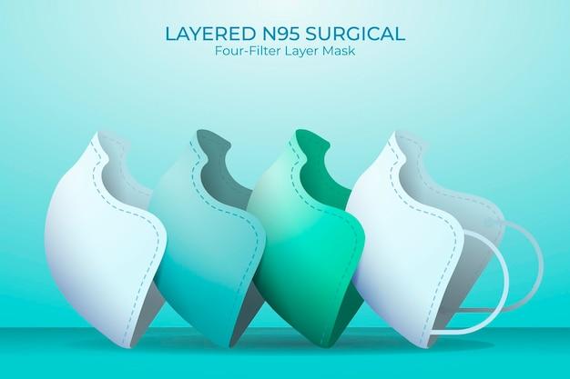 Gelaagd chirurgisch masker n95