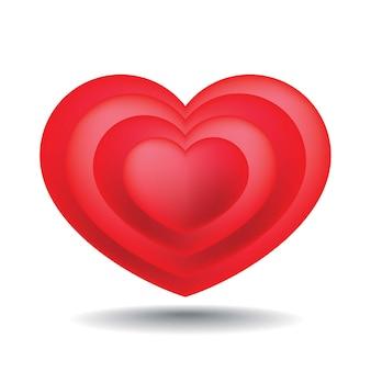 Gelaagd van hartvorm met schaduw