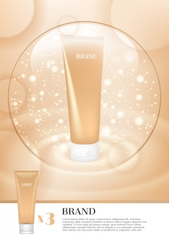 Gelaatsschuim met lichte bubbel