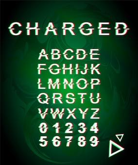 Geladen glitch-lettertypesjabloon