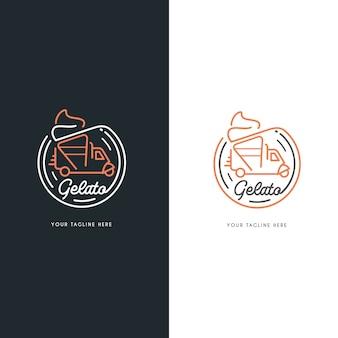 Gelato ijs auto's logo