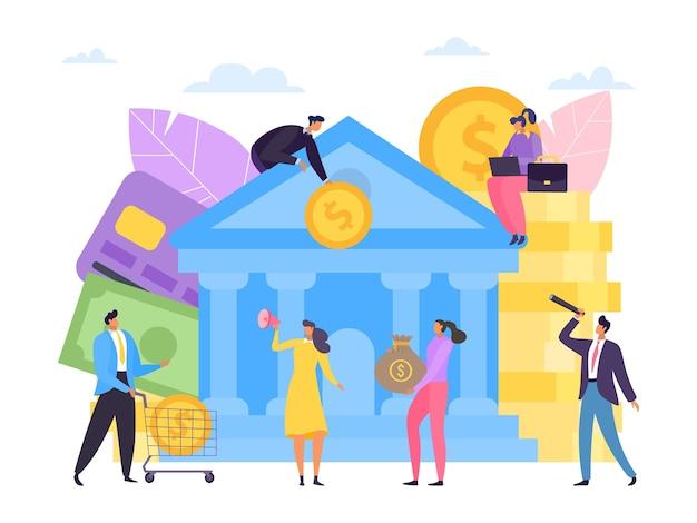 Geld besparen in platte bank