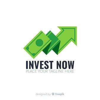 Geld concept logo sjabloon