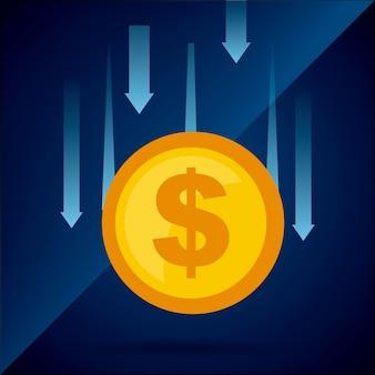 Geld conceptontwerp, vector grafische illustratie eps10