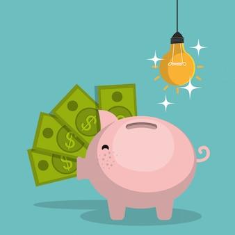 Geld conceptontwerp