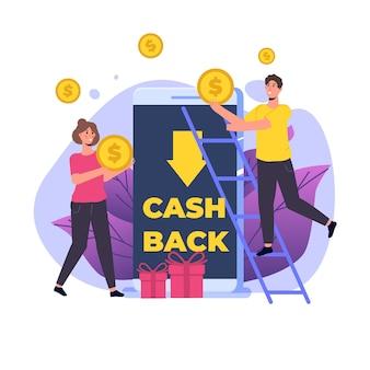 Geld contant terug op smartphone