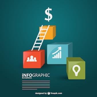 Geld doel infographic ontwerp