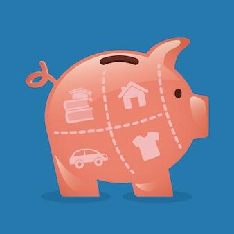 Geld eenvoudig element