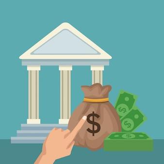 Geld en besparingen concept