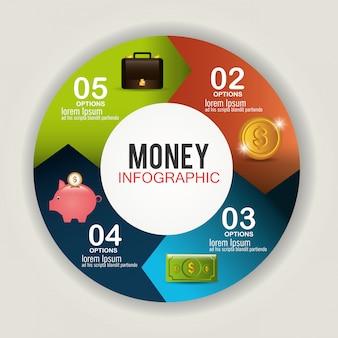 Geld en zakelijke ontwerp.