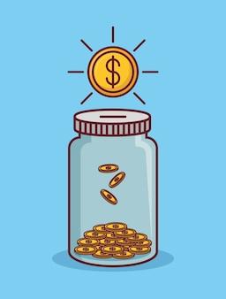 Geld gerelateerde pictogrammen