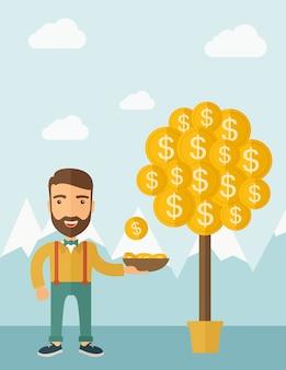 Geld groeit aan bomen.
