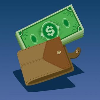 Geld in portemonnee