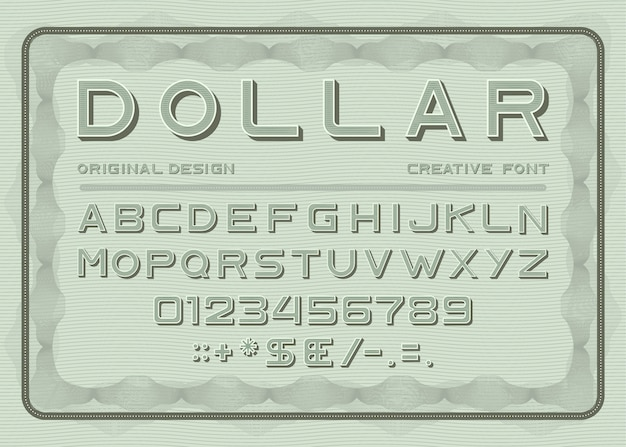 Geld lettertype