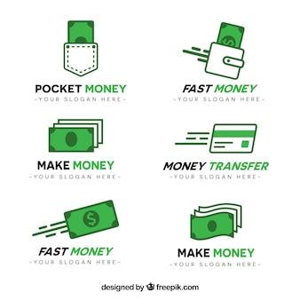 Geld logo sjabloonverzameling