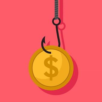 Geld misdaad platte ontwerp vectorillustratie