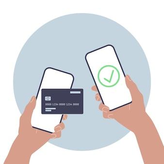 Geld mobiel transactie concept online geld sturen service vectorillustratie